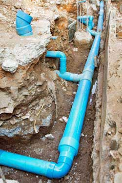 The cost of under slab plumbing repairs primarily consists of the cost of tunneling and the cost of trenching.